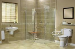 Disabled showers with seat